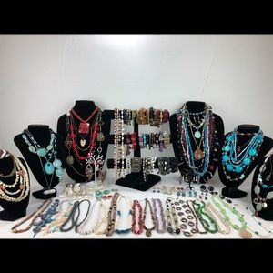 Huge lot of gemstone jewelry 132 pieces